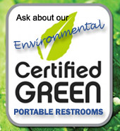 Environmental certified green portable toilets, MA, RI, NH
